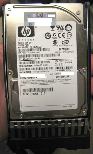 """Seagate ST9146802SS 10K 146G 2.5"""" SAS drive"""