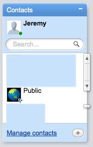 Public on a Google Wave contact list