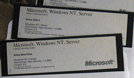 Windows NT Server 3.5 on 5.25